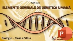 811. Genetică